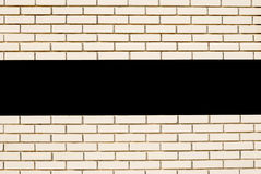 White brick wall. horizontal line with space for text. White brick wall. Square with space for text Royalty Free Stock Image