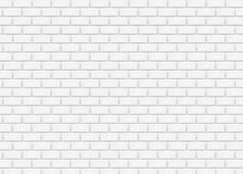 White Brick Wall In Subway Tile Pattern. Vector Illustration. Royalty Free Stock Photo