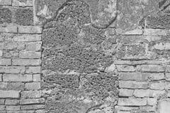 White brick wall and laterite stone Royalty Free Stock Photo