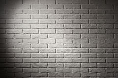 White brick wall with light effect and shadow, abstract backgrou Stock Photography