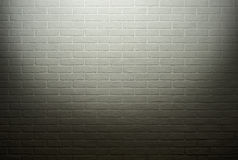 White brick wall with light effect and shadow, abstract background photo Stock Image