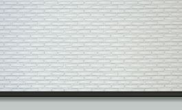 White brick wall with black lamps in vector royalty free illustration