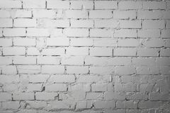 White brick wall. White old brick wall background royalty free stock photography