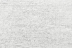 White brick wall, old surface texture of stone blocks Royalty Free Stock Images