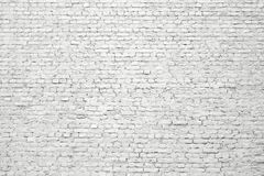 White brick wall, old surface texture of stone blocks Royalty Free Stock Photos