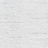 White brick wall painted of whitewash Royalty Free Stock Photo