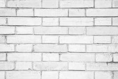 White brick wall pattern background Royalty Free Stock Photos