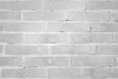 White brick wall pattern background Royalty Free Stock Images