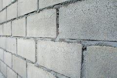 White Brick Wall Pattern. Close up of white brick wall pattern Stock Photo