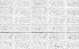 White brick wall pattern /White wall texture Royalty Free Stock Image