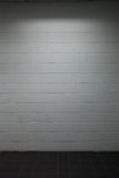 White brick wall pavement with dim lighting Royalty Free Stock Photography