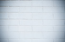 White brick wall, perfect as a background Royalty Free Stock Images