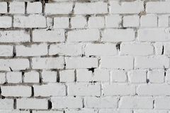 White brick wall, perfect as a background, square photograph stock photo