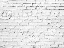 White brick wall perfect as a background Stock Images