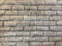 White brick wall. Rough white brick wall background Royalty Free Stock Image