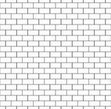 White Brick Wall Seamless Pattern. Repeating texture of brickwork. Continuous bricks background. Simple vector illustration with bricklaying Royalty Free Stock Images