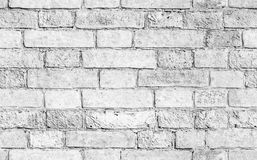 White brick wall, seamless texture. Old weathered white brick wall, seamless background photo texture Stock Images
