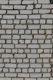 White brick wall. From a silicate brick Stock Photography