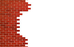 White brick wall. space for text. Modern red brick wall. Square with space for text Stock Photography