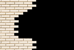 White brick wall. Space for text. White brick wall. Square with space for text Stock Image