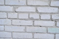 White brick wall. Spraying on the wall close-up Royalty Free Stock Images