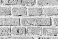 White brick wall surface as background. Abstract white texture Stock Image