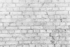 White brick wall surface as background. Abstract white texture Royalty Free Stock Photography