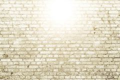 White brick wall surface as background. Abstract white texture Royalty Free Stock Image