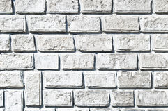 White brick wall texture Royalty Free Stock Photography