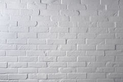 White brick wall texture Stock Images