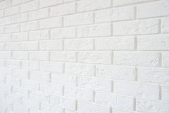 White brick wall Stock Images