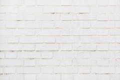 White brick wall texture as background Stock Photos