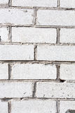 White brick wall texture or background Royalty Free Stock Photo