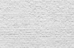 White brick wall. Texture or background Royalty Free Stock Photography