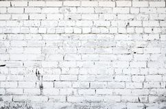 White brick wall. Texture or background Stock Photo