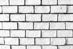 White brick wall texture Stock Photos
