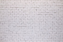 White brick wall texture or background Stock Photos