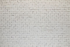 White brick wall texture or background Royalty Free Stock Images