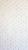 White brick wall for texture or background Stock Image