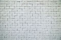 White brick wall texture for background Royalty Free Stock Photos