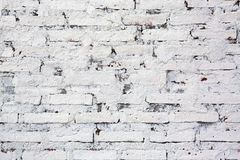 White brick wall texture background royalty free stock images