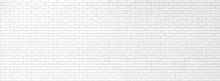 White Brick Wall Texture Banner Design. Empty Abstract Wide Screen Background for Presentations . A Lot of Space for stock images