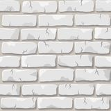 White brick wall texture Stock Photography
