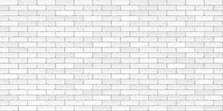 White brick wall texture vector illustration