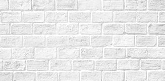 White brick wall texture. White brick wall for texture or background Royalty Free Stock Photo