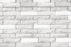 White brick wall texture/white brick wall texture of modern ideal for background and used in interior design. Royalty Free Stock Photography