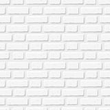 White brick wall. Vector seamless texture. Stock Photography