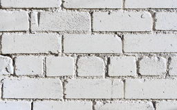 White Brick Wall. View of a White Brick Wall Stock Photos