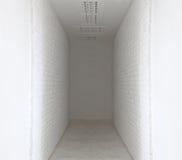 White brick wall and walk way Stock Images