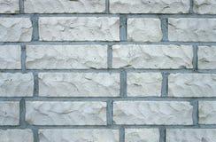 White bricks. A white brick wall outside Stock Photo